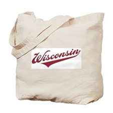 Retro Wisconsin Tote Bag