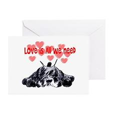 schnauzer love Greeting Cards (Pk of 10)