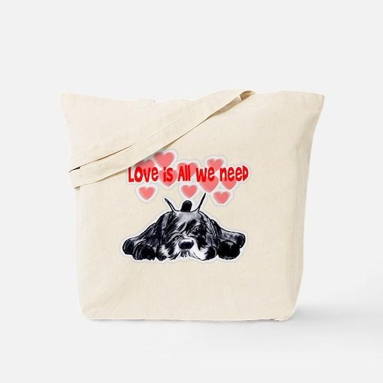 schnauzer love Tote Bag