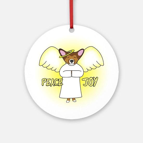 Sable Peace Joy Pembroke Corgi Christmas Ornament