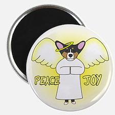 Tri Peace Joy Pembroke Corgi Christmas Magnet