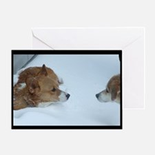 Good Friends in Need Corgi Greeting Card