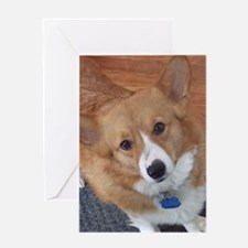 Watching You Corgi Greeting Card
