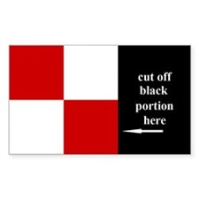 US Naval Flag Code Uniform Decal