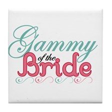 Gammy of the Bride Tile Coaster