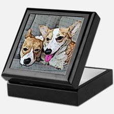 Corgi Art Keepsake Box