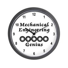 Mechanical Engineering Genius Wall Clock
