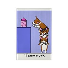 Corgi Teamwork Rectangle Magnet