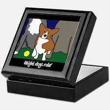 Corgi Height Dog Keepsake Box