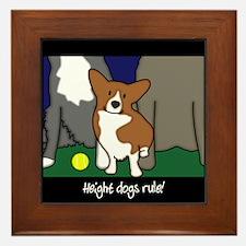 Corgi Height Dog Framed Tile