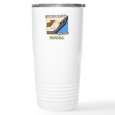 Box Work Corgi Travel Coffee Mug