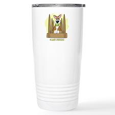 Cartoon Corgi Flyball Travel Mug
