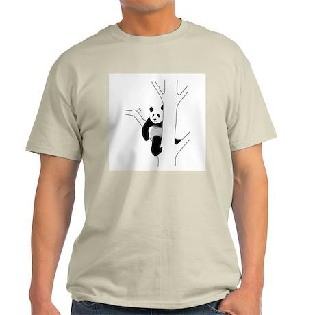 Panda Bear In Tree Light T-Shirt