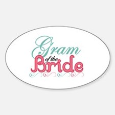 Gram of the Bride Oval Decal