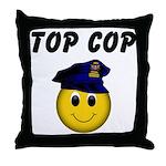 Top Cop Throw Pillow