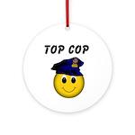 Top Cop Ornament (Round)