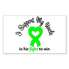 Lymphoma Uncle Support Rectangle Decal