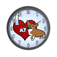 I Love my Corgi Clock (Cartoon Corgi)