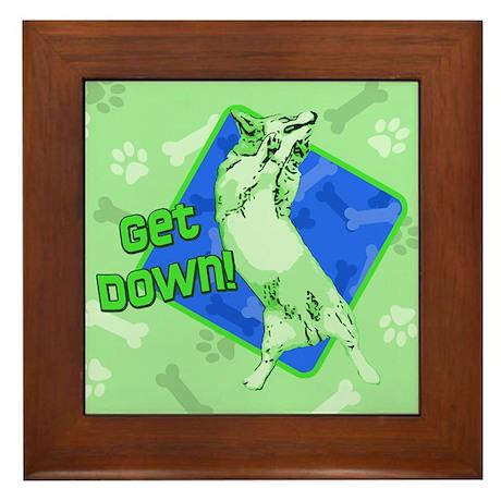Get Down BG Corgi Framed Tile