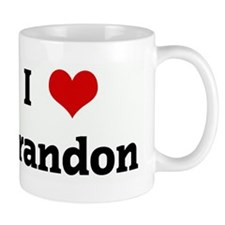 I Love Brandon Coffee Mug