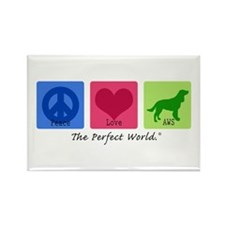 Peace Love AWS Rectangle Magnet