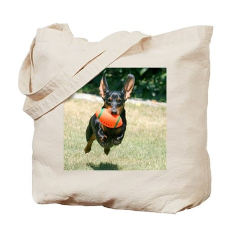 Football Doxie Tote Bag