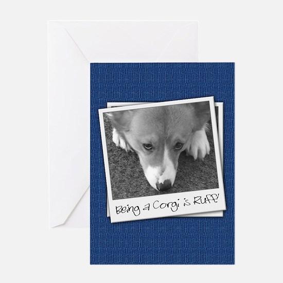 B&W Corgi Photo Greeting Card