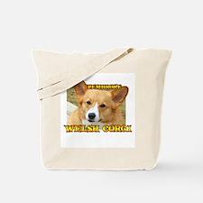 Sitting Pembroke Corgi Tote Bag