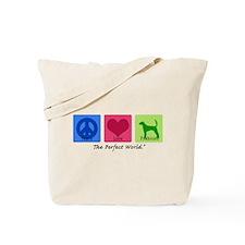 Peace Love Foxhound Tote Bag