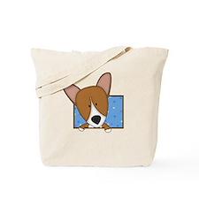 Cartoon Pembroke Welsh Corgi Tote Bag