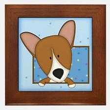 Cartoon Pembroke Welsh Corgi Framed Tile