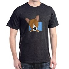 Cartoon Pembroke Welsh Corgi Dark TShirt