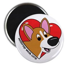 Cartoon Corgi Love Magnet