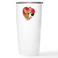 Cartoon Corgi Love Travel Mug