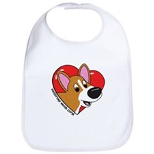 Cartoon Corgi Love Bib