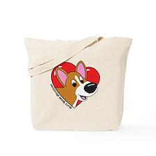 Cartoon Corgi Love Tote Bag