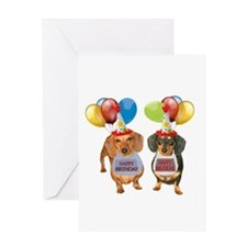 Doxie Birthday Greeting Card