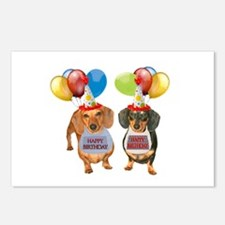 Doxie Birthday Postcards (Package of 8)