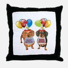 Doxie Birthday Throw Pillow