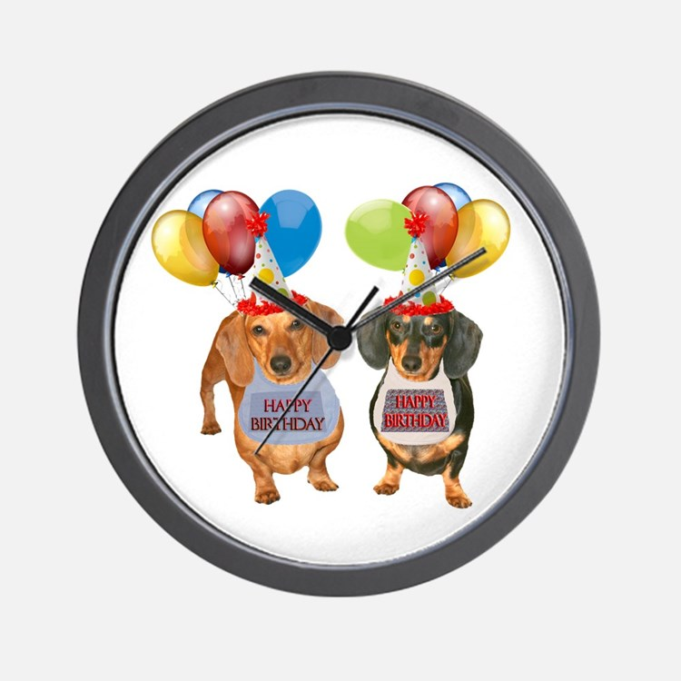 Doxie Birthday Wall Clock
