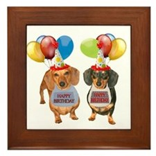 Doxie Birthday Framed Tile