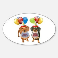 Doxie Birthday Oval Decal