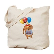 Red Doxie Birthday Tote Bag