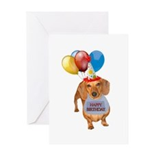 Red Doxie Birthday Greeting Card