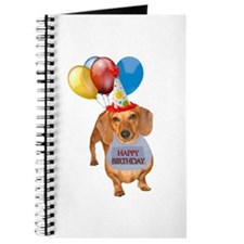 Red Doxie Birthday Journal