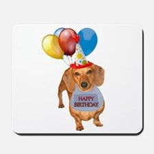 Red Doxie Birthday Mousepad