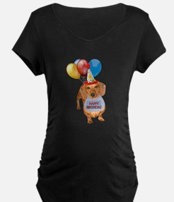 Red Doxie Birthday T-Shirt
