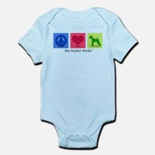 Peace Love Airedale Infant Bodysuit