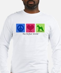 Peace Love Airedale Long Sleeve T-Shirt