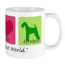 Peace Love Airedale Mug